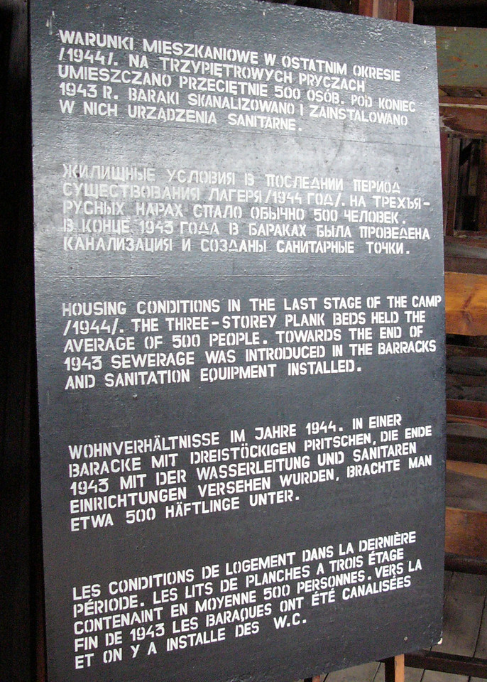 Instruction sign at Majdanek