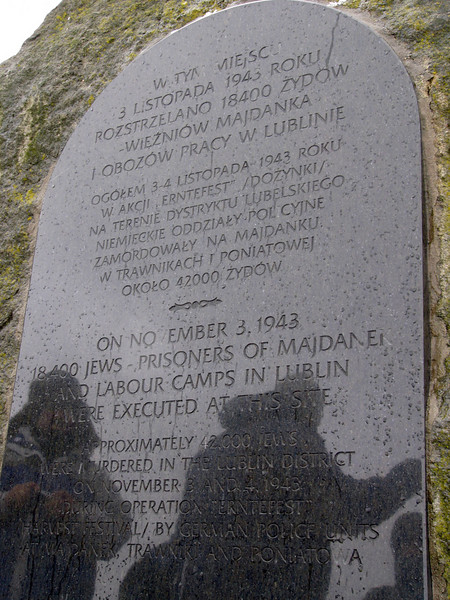 """Plaque commemorating the victims of the """"Harvest Festival"""""""