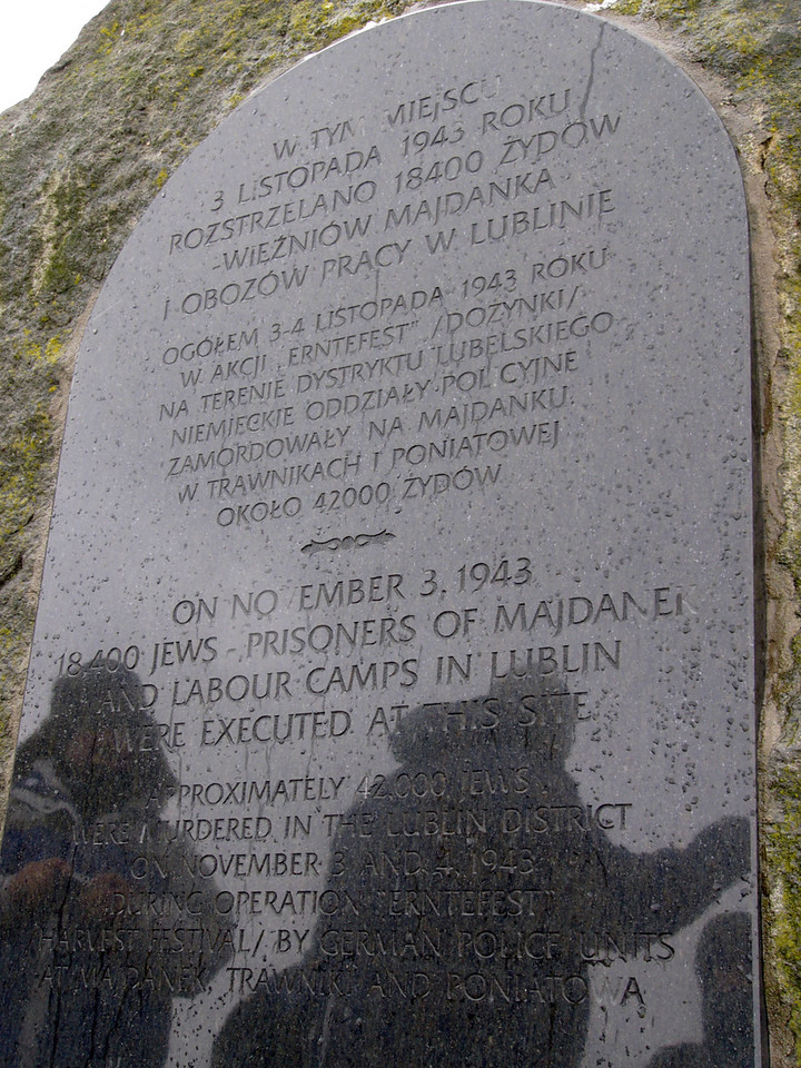 "Plaque commemorating the victims of the ""Harvest Festival"""