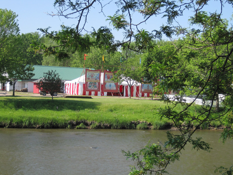 The Circus World Museum, from across the Baraboo River.