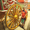 Wheel diameter larger than Lulu's height.