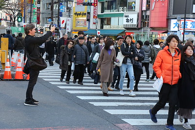 """The Shibuya Crossing aka """"The Scramble""""."""
