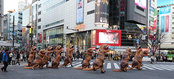 Shibuya Crossing is also a Dino Crossing !!