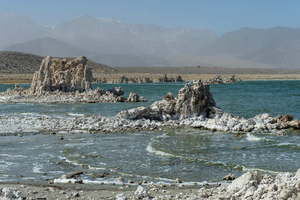 Mono lake with eastern Sierra in the background.