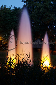 Fire in the water. Luxembourg City, Luxembourg.