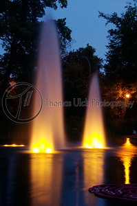I went for a walk later that evening and I found this park. I was absolutely amazed by the colors and the way the light played on the fountains. Luxembourg City, Luxembourg.