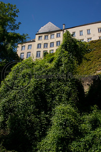 This is the view from about half way down into the valley. Luxembourg City, Luxembourg.