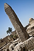 Karnak - remains of a small obelisk in front of the first pylon of the temple of Amun-Re
