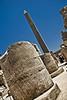 Karnak - view of the obelisk of Thutmose I