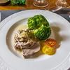 Yet another of Katy's superb dishes; filet mignon de porc avec sause dijonnaise. Delicious!