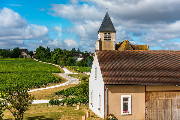 Not far from Jean-Marc Brocard's winery lies a tiny hamlet that we can just see from his main tasting room