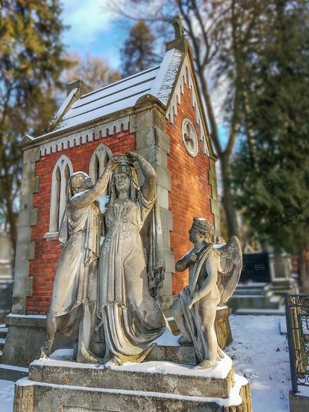 Mausoleum in Lychakiv Cemetery, Lviv Ukraine
