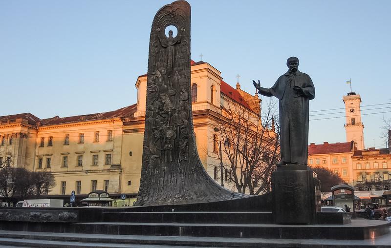 Taras Shevchenko monument, Lviv Ukraine