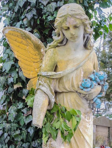 Mourning Angel,  Lychakiv cemetery, Lviv Ukraine