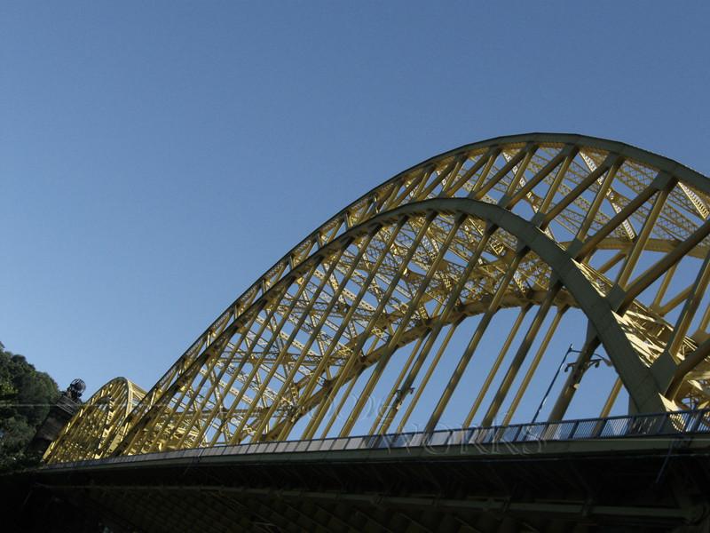 Sixteenth Street Bridge from below - Allegheny River, Pittsburgh