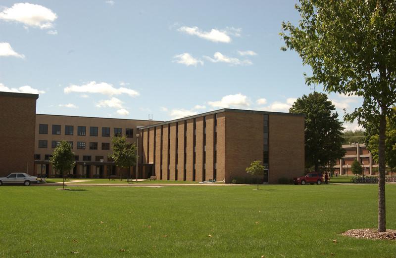 Lydia's dorm (Miller) on right