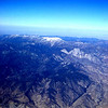 Aerial view of the snowcapped Mount San Gorgonio massif (11,500 ft elevation) as we entered the landing pattern for Ontario CA.
