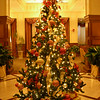 Beautiful Christmas tree at the Memphis Mariott Hotel entrance where our first round of meetings were held.
