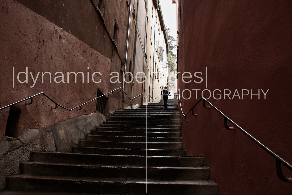 Stairs to the Fourvière Basilica, Lyon, France