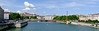 Lyon is situated at the confluence of the mighty Rhone River and smaller Saone River (pictured here).