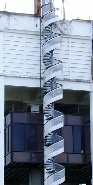 An interesting spiral stairs.