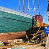 all-wood fishing vessel built in 1925 in kennebunkport, me.  stem-to-stern restoration in gloucester harbor commenced in 2012.