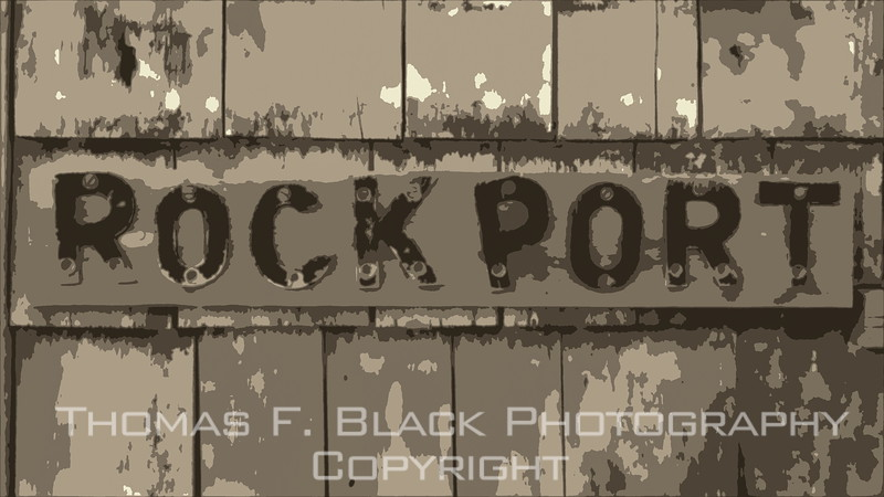 this and frame following, coastal town of rockport.