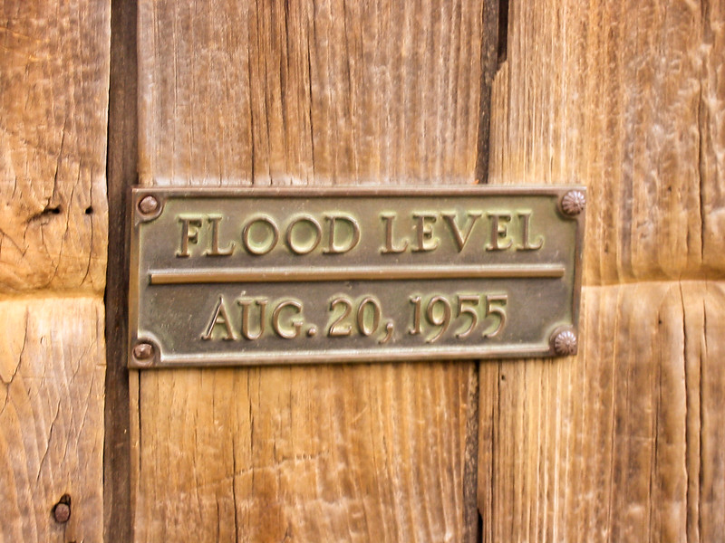 Grist Mill flood marker, 1