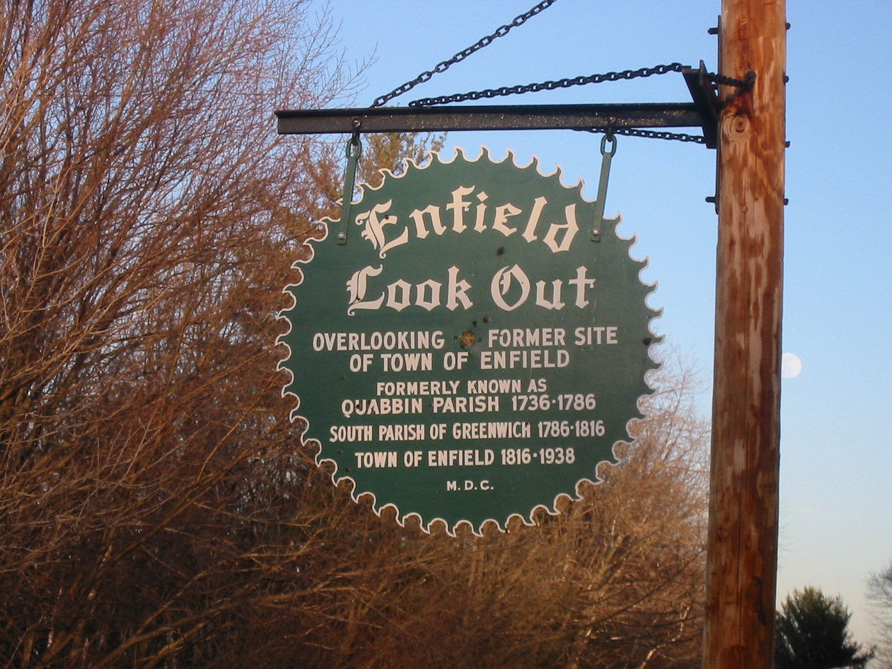 Enfield Look Out sign