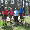3 backpackers and 1 gimp - setting out on Friday - Randall, Heidi, me and Gary
