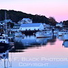 Twilight in New Harbor harbor. [UFP101112]