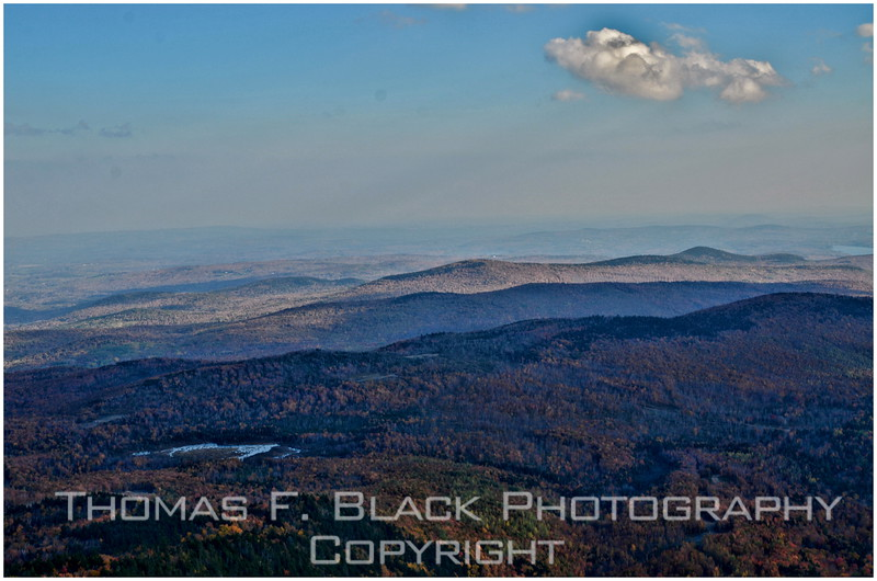 View from observation tower atop mount blue (elevation 3,187 ft.).