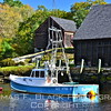 Lobster boat in back cove, Waldoboro. [UFP101112]