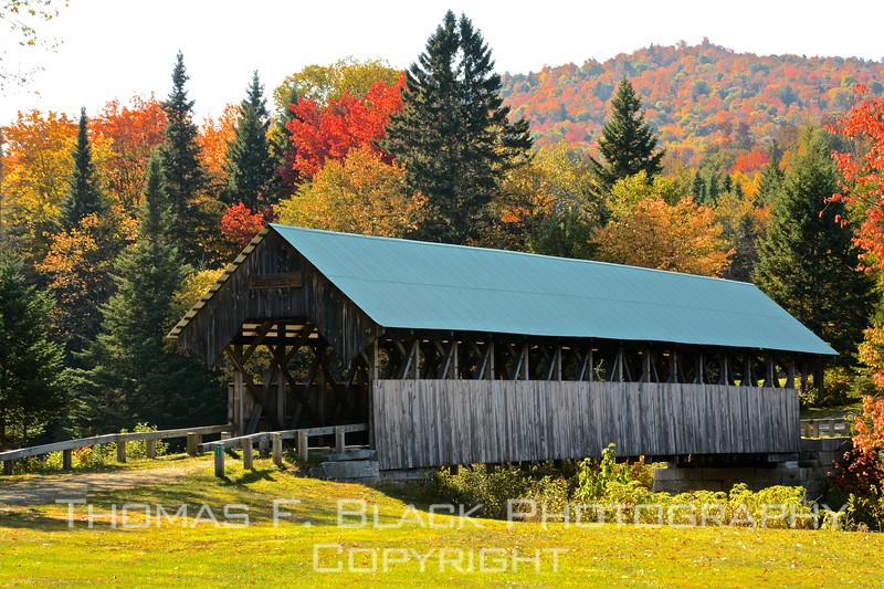 one of 14 surviving covered bridges in maine., this off hwy. 16 in rangeley lakes region. built in 1898, closed to pedestrian traffic in 1980s.