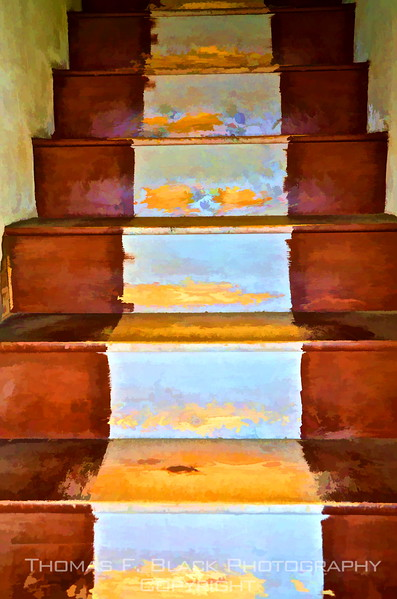 Stairs opposite front door. Special graphic effect applied. [UFP092312]