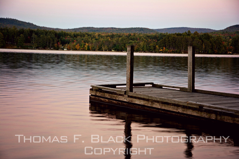 this and frame following, sunset glow from public dock at lake webb in weld.