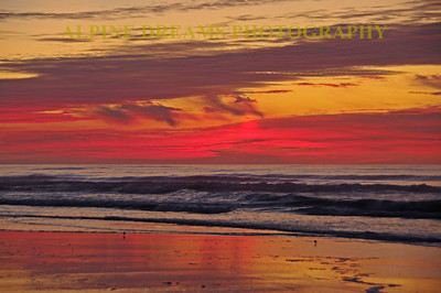 I called this shot Fiery Sunrise. The Red and purple Clouds were Spectacular!