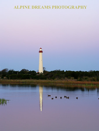 Called LIGHTHOUSE REFLECTIONS this shot is similar to LIGHTHOUSE-POND but  the sky had more pink in it and the ducks all moved to the right side of the lightbeam for me.