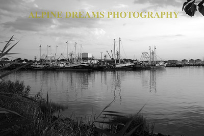 DOCK SCENE IN B&W