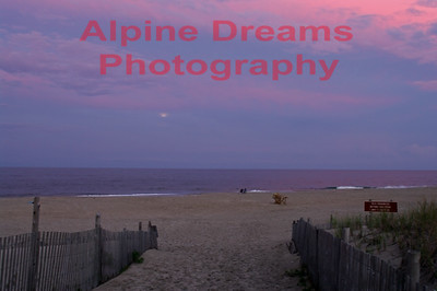 A similar shot to the purple sky in my first selection this shot includes the full moon in the hazy sky.