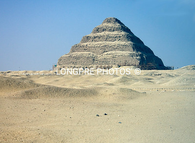 SAQQARRA step pyramid.   South of Cairo.