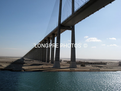 SUEZ CANAL bridge from Siani to Egypt.