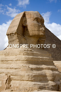 SPHINX beside Pyramid at Giza.