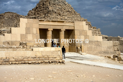 Temple entrance:  SAQQARRA.  Step pyramids.