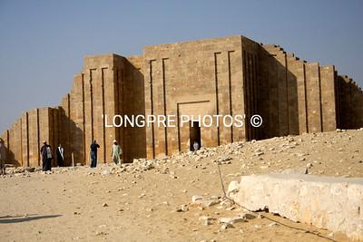 Exterior of SAQQARRA Temple.