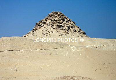 Smaller SAQQARRA step pyramid.