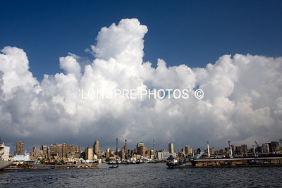ALEXANDRIA harbor...big clouds.