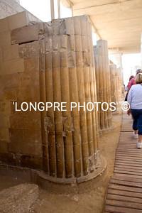 Columns inside SAQQARRA temple.
