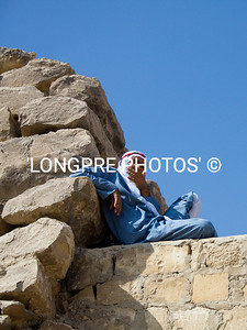 Local man resting at SAQQARRA.