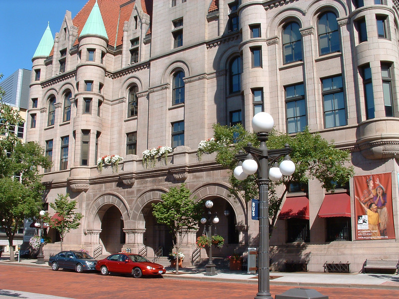 The Old Federal Building was sold to City in 1972 for one dollar and reopened as the Landmark Center in 1978 after a 6-year renovation.